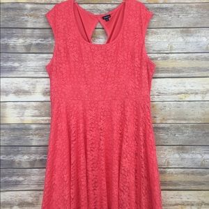 Torrid Coral Lace Dress